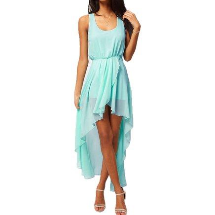vestido azul bebe ceu fino chiffon festa