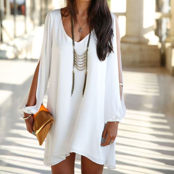 vestido branco chiffon verao 2015