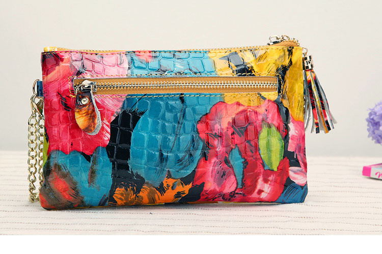 bolsa de mao de couro vinil colorida transpassada amarela azul rosa