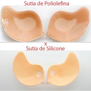 sutia de silicone x poliolefina