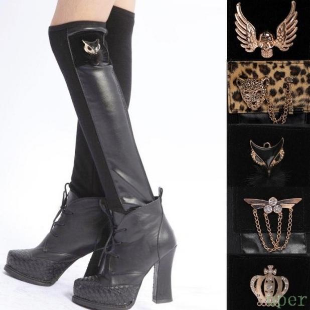 meias-botas de couro ecologico com la femininas alta qualidade animal print anjo coroa
