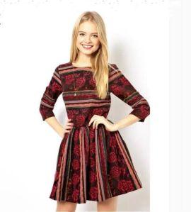 vestido manga vermelho vinho etnico-