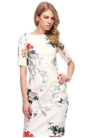 vestido vintade branco floral