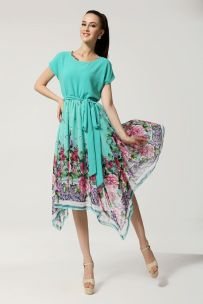 vestido vintage floral agua midi 5-