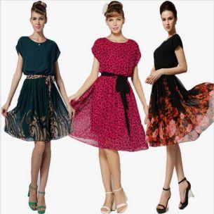 vestidos vintage midi floral on-
