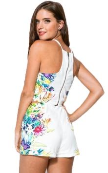 conjunto cropped com short branco floral2