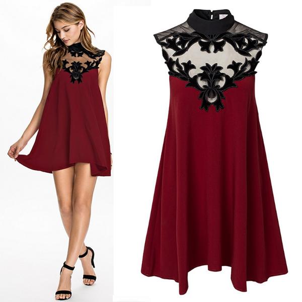 vestido de festa vinho gola de tulle bordado renda