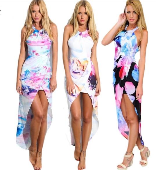 vestidos florais mullet frente única