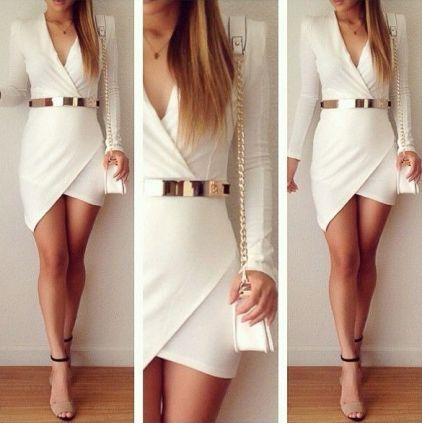 vestido branco club