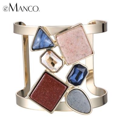 bracelete maxi com pedras naturais