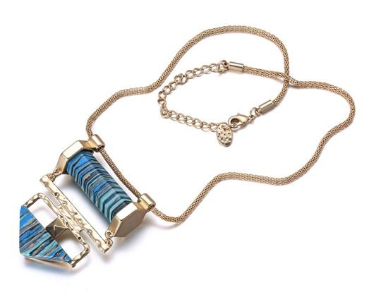 colar maxi cristal azul turqueza