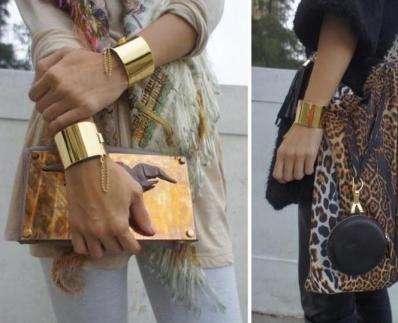 braceletes usados em par