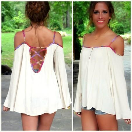 blusa de malha branca