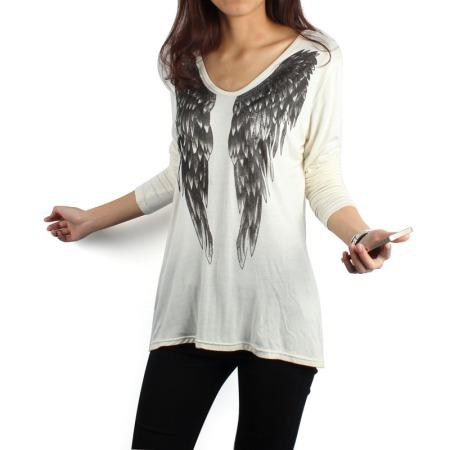 blusa de manga asas viscose