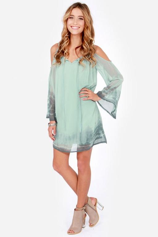 vestido verde agua solto curto ombros abertos1
