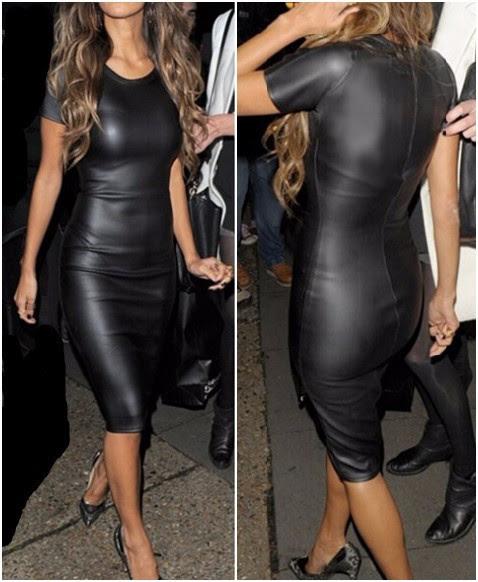 vestido bodycon de couro preto 2