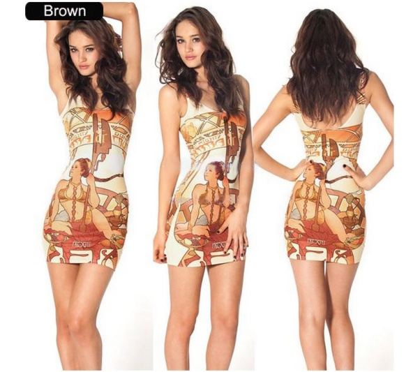 vestido mini estampas divertidas grecia antiga