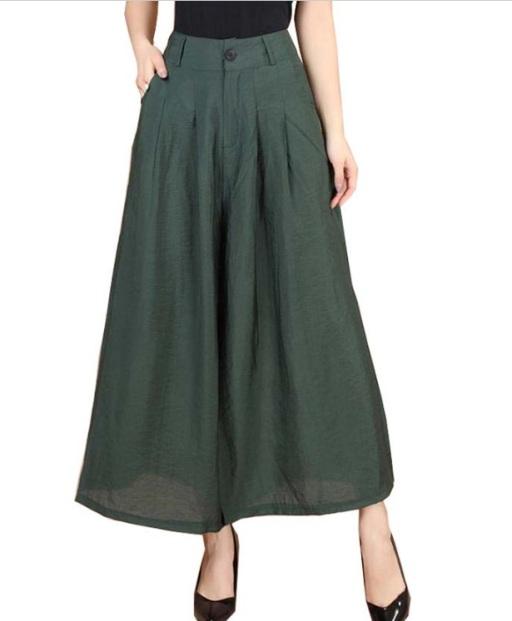 calça pantacourt verde militar