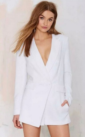 macaquinho blazer slim branco 3