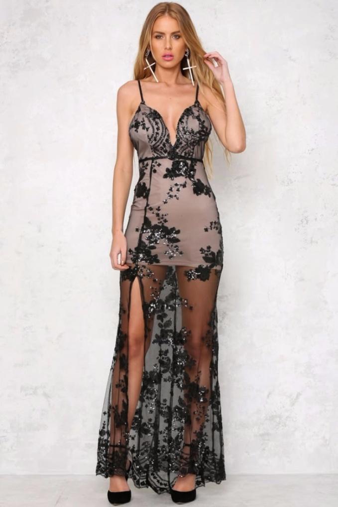vestido-longo-de-festa-com-paetes-decotado-preto