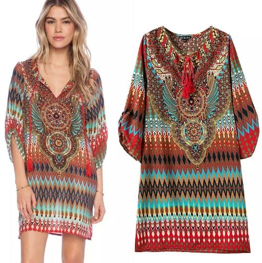 vestido-tunica-saida-de-praia-etnico-mandala-marrom