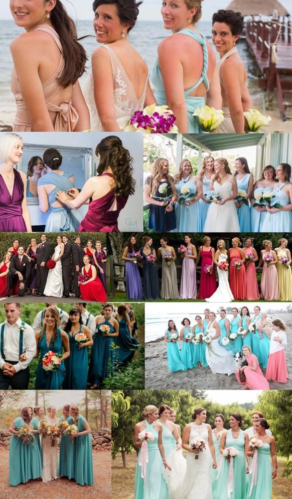 Vestido de Festa Alças de Amarrar Madrinhas Casamento