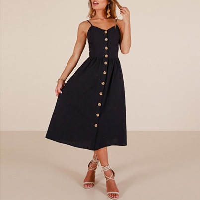 Vestido de verão midi preto